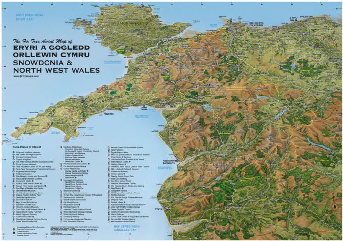 Snowdonia National Park - Flat/Rolled Map - Paper